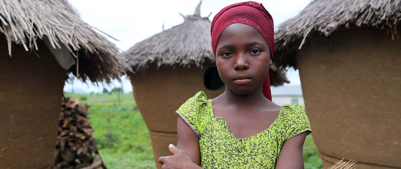 Sefiyat is 10 years old and lives in the Kafuwa community near to Abuja airport