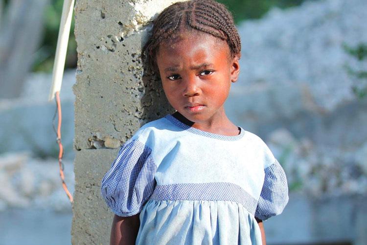 Child living in Haiti