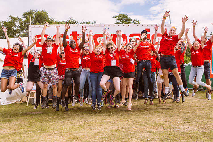 ActionAid volunteers at Latitude