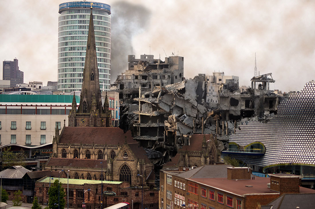 What Birmingham city centre might look like after being bombed