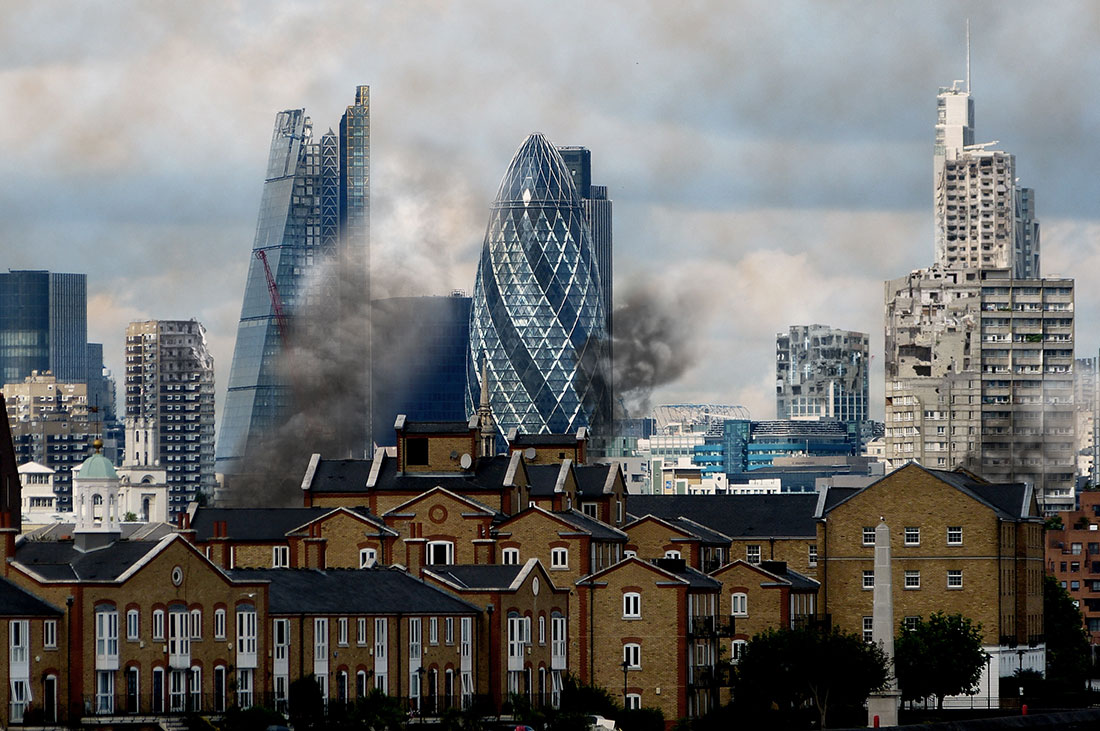What the City of London might look like after being bombed